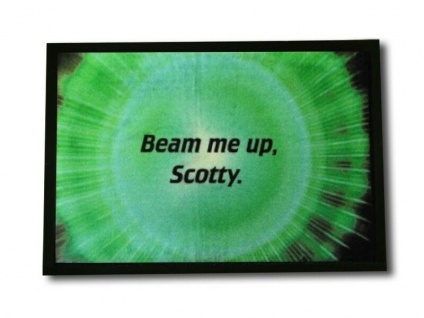 Die originelle Fußmatte Beam me up Scotty