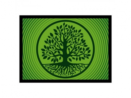 Fußmatte Baum des Lebens grün