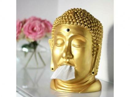 Taschentuchspender Buddha gold
