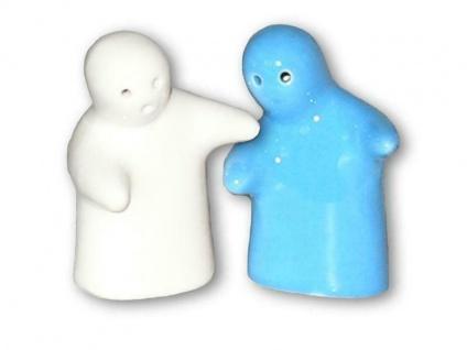 Salz & Pfefferstreuer als Geister BLAU / WEISS