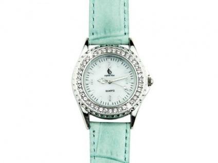 Damen Armbanduhr mit Swarovski Elementen - Blau