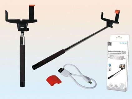 Selfie Teleskop Handyhalter 105 cm mit Bluetooth, Ladekabel und Akku