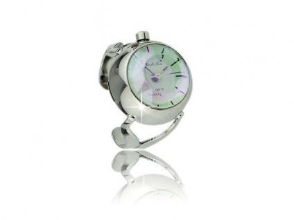 Die winzige Quarz-Uhr im Ring für die Dame - PERLMUTT - Vorschau