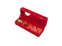 echte goldene Rose mit Zertifikat in roter Samtbox mit Sichtfenster