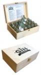 Gin Adventskalender Kiste 22, 6x15x7, 9 cm mit Einsatz für 24 Flaschen