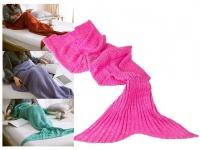 Decke Kinder Meerjungfrau pinkfarben 140x70cm 100% Polyacryl 400 Gramm