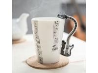 Musik Tasse Schwarze E-Gitarre als Henkel