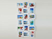 Galerierahmen 18 Bilder, weiß
