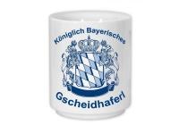 Bayerische Kaffeetasse - Königlich Bayerisches Gscheidhaferl
