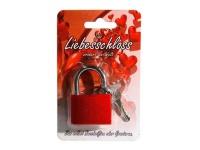 rotes Liebes Schloss mit 2 Schlüsseln
