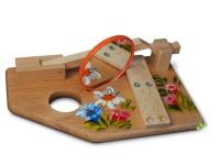 Handbemalte Schnupf Maschine handlich klein 18x12cm