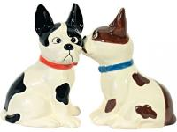 Salz- und Pfefferstreuer Hund Dalmatiner 2er-Set schwarz weiß magnetisch