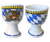 Eierbecher weiß-blaue Raute Bayern (1 Stück)