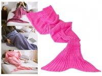 Decke Meerjungfrau 180x90cm 100% Polyacryl 650 Gramm - Farbe: pink