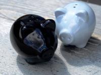 Salz & Pfefferstreuer als Schweine SCHWARZ / WEISS