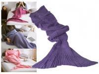 Decke Meerjungfrau 180x90cm 100% Polyacryl 650 Gramm - Farbe: helllila