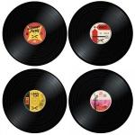 Tischset Vinyl Platte Untersetzer
