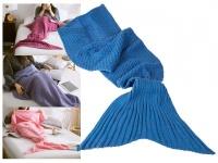 Decke Meerjungfrau 180x90cm 100% Polyacryl 650 Gramm - Farbe: blau
