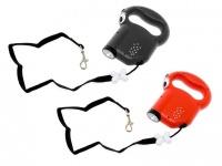 Hunde Automatikleine mit Taschenlampe - Hundeleine mit Licht
