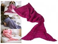 Decke Meerjungfrau 180x90cm 100% Polyacryl 650 Gramm - Farbe: magenta