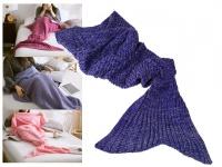 Decke Meerjungfrau 180x90cm 100% Polyacryl 650 Gramm - Farbe: lila