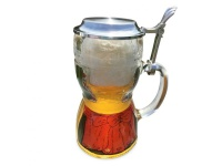 Bierkrug Dirndl 0, 5l mit Zinndeckel
