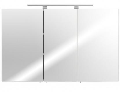 LED Spiegelschrank 110 cm Weiss 6500K Badspiegel Schalter Stecker Kombi *5439-76
