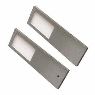 LED Edelstahl Unterbauleuchte Küche 2x5, 2 W Torro warmweiß Unterbaulampe *556410