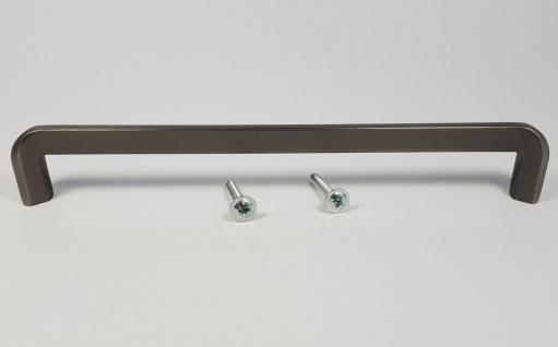 Möbelgriff BA 192 mm Griffe Küche Altzinn gebürstet Antik Tür Küchengriff *1536