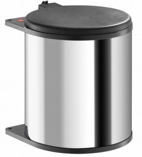 Küchen Mülleimer Edelstahl Single Kosmetikeimer 1x15 Liter Hailo Big Box *43725