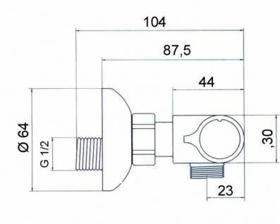 Thermostat Duscharmatur Scherheitssperre 38° C Badarmatur Einhandmischer *0495 - Vorschau 3