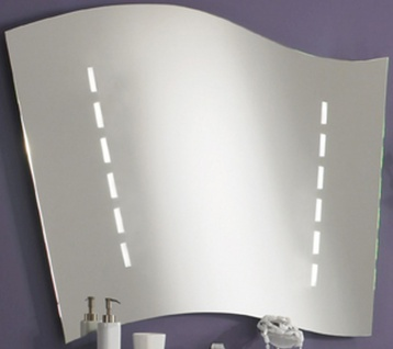 Badezimmer Spiegel WING 116 cm LED Badspiegel IP44 Sensorschalter 3100 K *08040