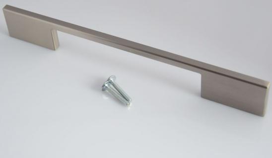 Schrank Küchengriff BA 160, 192, 224 mm Edelstahloptik matt Tür Möbelgriff *4003