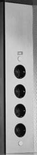 Thebo Schuko Ecksteckdose USB Port Teleskop Küchensteckdose 46-58 cm *542215