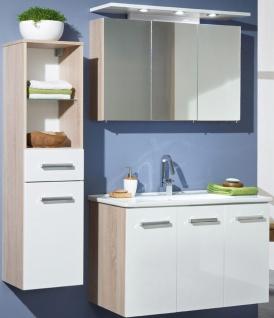 3 tlg Badset Waschtisch 100 cm LED Spiegelschrank Waschplatz Hochschrank ZO-3007 - Vorschau 1