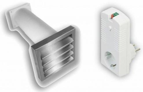 Elektronischer Mauerkasten Aeroboy Ø 129 mm Edelstahl Lüftungsgitter *526888