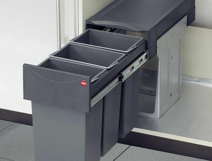 Mülleimer Küche 3x10 Liter Hailo Mülltrennung Einbau ab 30 cm ...