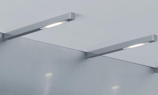 LED Küchen Schrank Unterbauleuchte 2-er Set 2 x 3, 5 W Edelstahloptik *30383