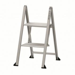 Klapptritt Klappleiter Aluminium 2 Stufen Vikingstep® Mini S max 150 Kg *559138