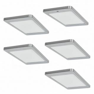 LED 5er Unterbauleuchte Küche 5 x 4, 8 W Küchenleuchte Kyra mit Dimmer *571673
