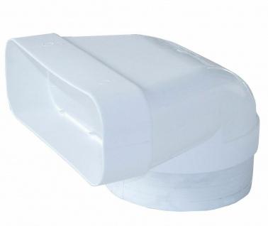 Umlenkstück mit Stutzen Flachkanal Abluft 230x80 mm zu Ø 150 mm Rundrohr *529117