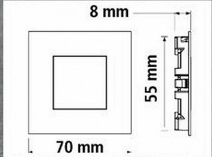 4-er Set LED Edelstahl Sockel Einbauleuchte Küche 4 x 0, 35 W Warmweiss *543434 - Vorschau 4