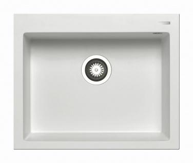 Einbauspüle 61x50 cm Küchenspüle Istros 1 Spülbecken mit Hahnloch moderne Spüle