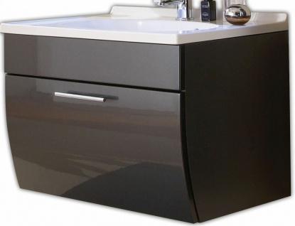 Waschtisch 70 cm Schublade Softeinzug Gäste Bad WC Waschplatz Badmöbel *5601-84