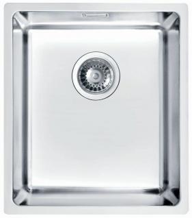 Unterbauspüle Edelstahl 38 cm Unterbaubecken Ablauf Küchenspüle Überlauf 1102696
