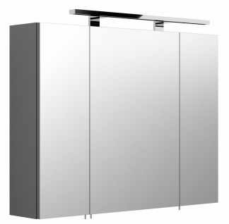 Badezimmer LED Spiegelschrank 80cm Schalter-Stecker-Box Badspiegel Spiegel *5681