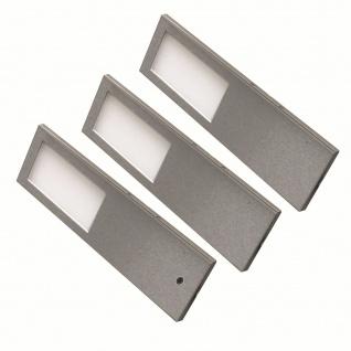 LED Edelstahl 3er Unterbauleuchte Küche 3x5, 2 W Unterbaulampe warmweiß *556427