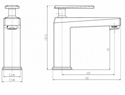 Waschtischarmatur Ola modernes Design Waschbecken Armatur Wasserhahn chrom *0484 - Vorschau 2