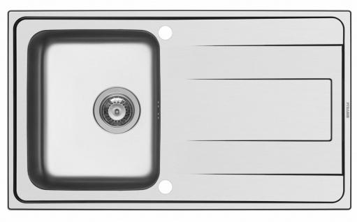 Küchenspüle 86x50 cm Einbauspüle Alea Spülbecken Hahnloch Spüle Edelstahlspüle