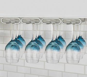Weinglashalter 43x28 cm Gläserschiene 4-reihig Glashalter Metall Gläserhalter